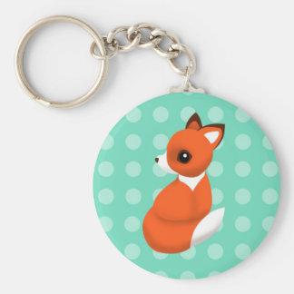 Fox de polka porte-clef