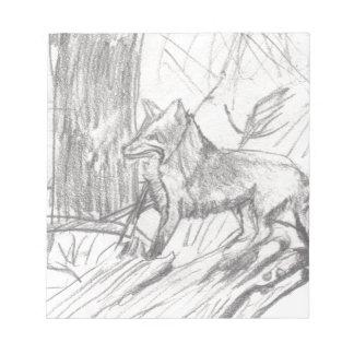 Fox dessinant Eliana Bloc-note