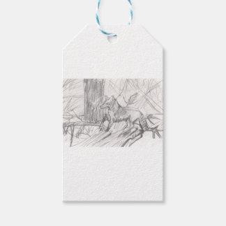 Fox dessinant Eliana Étiquettes-cadeau