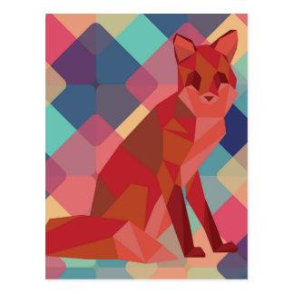 Fox d'origami cartes postales