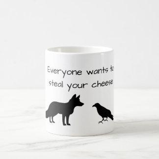 Fox et corneille mug