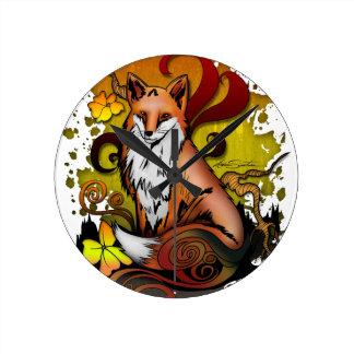 Fox extérieur horloge ronde