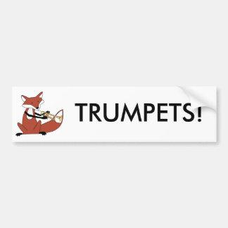 Fox jouant la trompette adhésifs pour voiture
