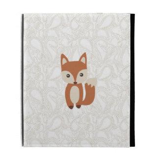 Fox mignon de bébé étuis iPad folio