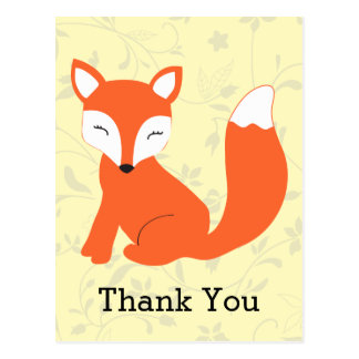 Fox mignon de bébé de région boisée cartes postales