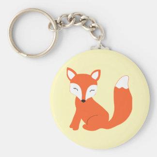 Fox mignon de bébé de région boisée porte-clef
