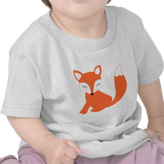 Fox mignon de bébé de région boisée t-shirts