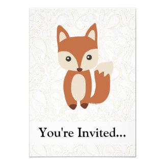 Fox mignon de bébé invitations