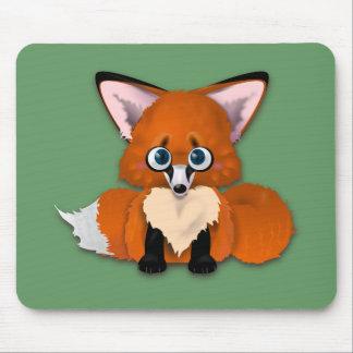 Fox mignon de bébé tapis de souris