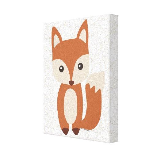 Fox mignon de bébé toile tendue sur châssis