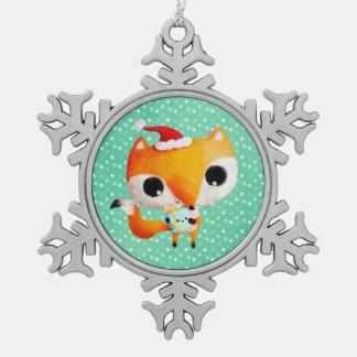 Fox mignon de Noël Ornements