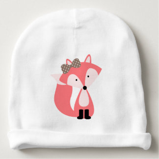 Fox mignon de rose bonnet de bébé