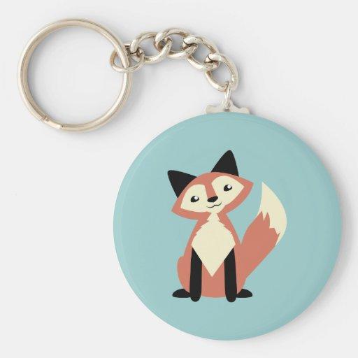 Fox mignon de Tête-inclinaison Porte-clefs
