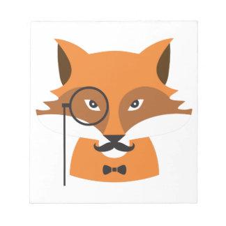 Fox orange bloc-note