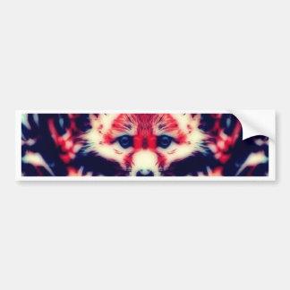 Fox rouge autocollant pour voiture