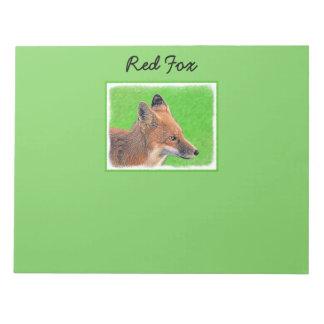 Fox rouge bloc-note
