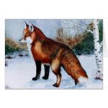 Fox rouge carte de vœux