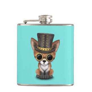 Fox rouge de bébé mignon de Steampunk Flasques