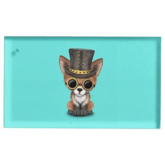 Fox rouge de bébé mignon de Steampunk Porte-cartes De Table