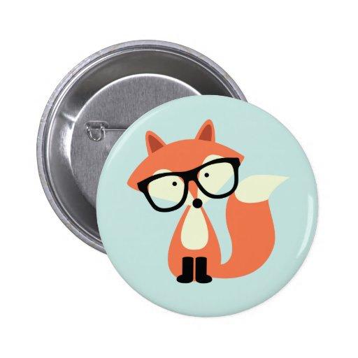 Fox rouge de hippie mignon badges