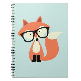 Fox rouge de hippie mignon carnet