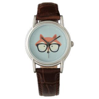 Fox rouge de hippie mignon montres bracelet