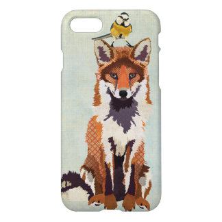 Fox rouge et petit oiseau coque iPhone 7