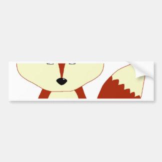 Fox rouge mignon autocollant de voiture