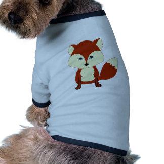 Fox rouge mignon tee-shirt pour animal domestique