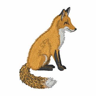 Fox rouge sweatshirt à capuche avec brodé