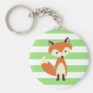 Fox rusé porte-clé rond
