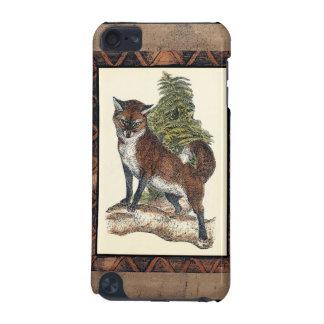 Fox rustique faisant un pas sur un tronc d'arbre coque iPod touch 5G