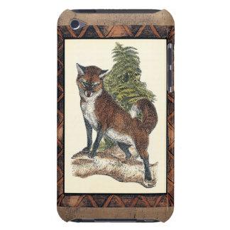 Fox rustique faisant un pas sur un tronc d'arbre étui barely there iPod