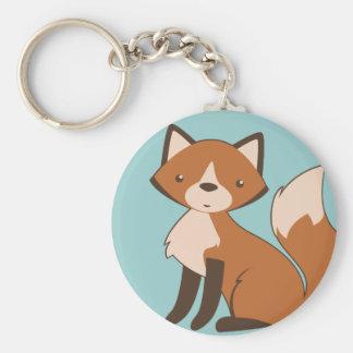 Fox se reposant mignon porte-clé rond