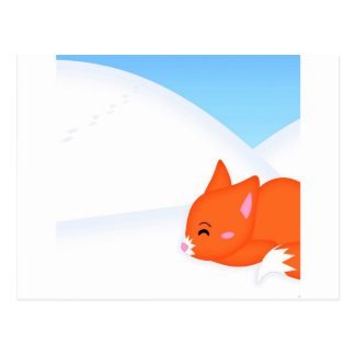 Fox somnolent animal abstrait carte postale