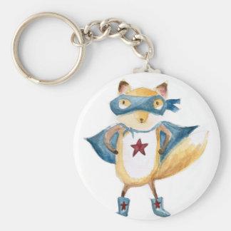 Fox superbe ! porte-clé rond