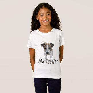 Fox Terrier avec le logo, T-shirt de blanc de