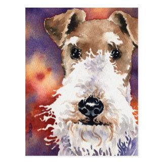 Fox Terrier de fil Carte Postale