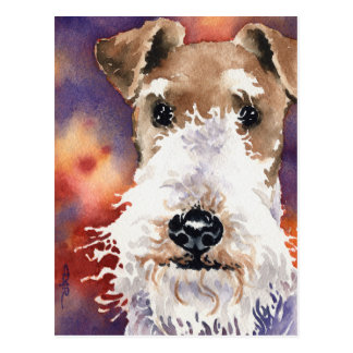 Fox Terrier de fil Cartes Postales