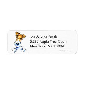 Fox Terrier de fil propre et simple Étiquette D'adresse Retour