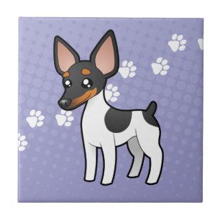 Fox Terrier de Rat terrier/jouet de bande dessinée Petit Carreau Carré