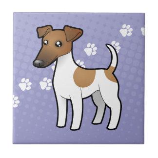 Fox Terrier doux de bande dessinée Petit Carreau Carré