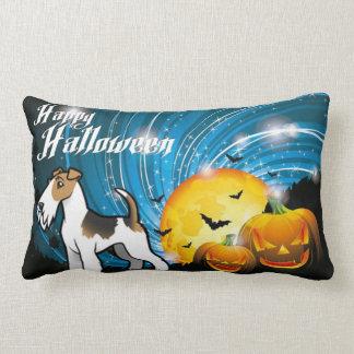 Fox Terrier heureux de fil de Halloween Coussin Rectangle