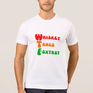 Fox-trot de tango de whiskey de l'amusement WTF à T-shirt