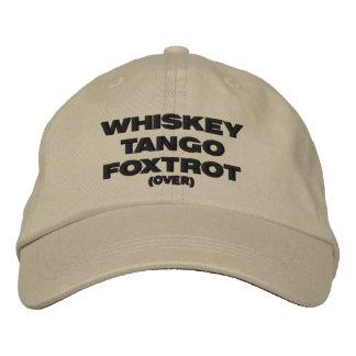 Fox-trot de tango de whiskey (plus de) casquette brodée