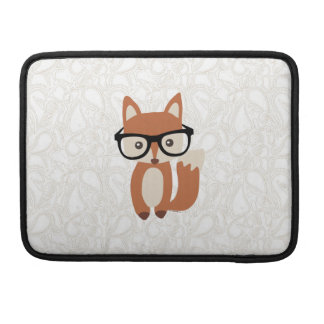 Fox w/Glasses de bébé de hippie Poche Pour Macbook
