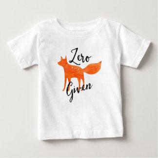 Fox zéro donné t-shirt pour bébé