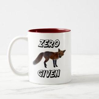Fox zéro donné tasse 2 couleurs