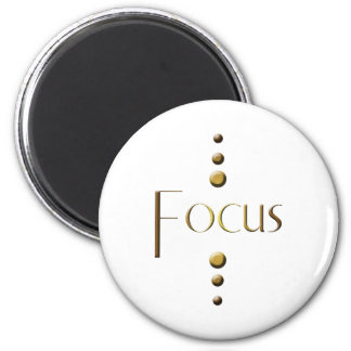 Foyer de bloc d'or de 3 points magnet rond 8 cm