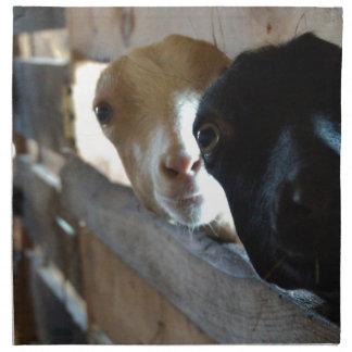 Foyer de chèvre serviettes de table